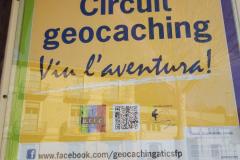 Cartel del circuito de geocaching