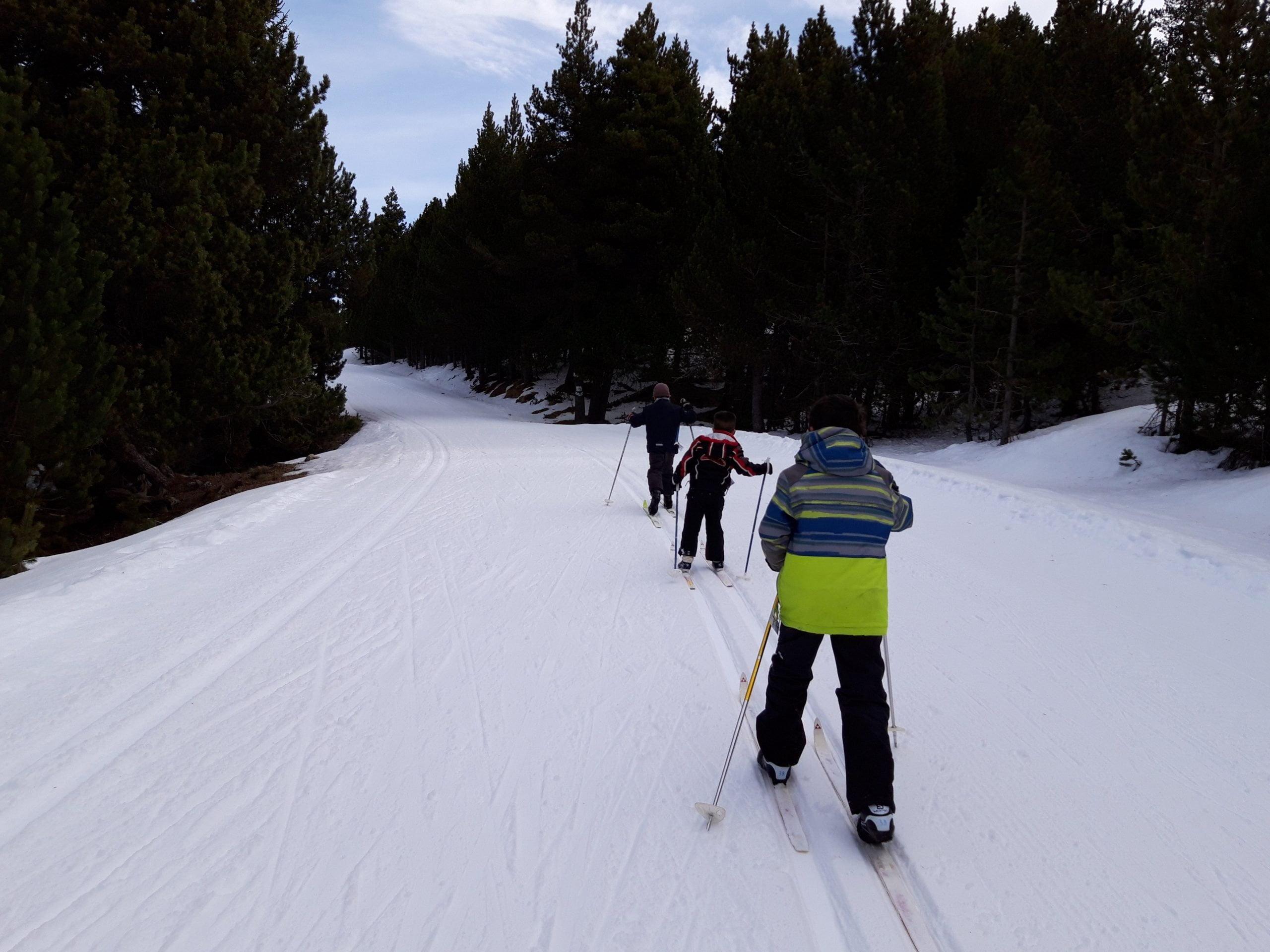Pista verde de esquí de fondo