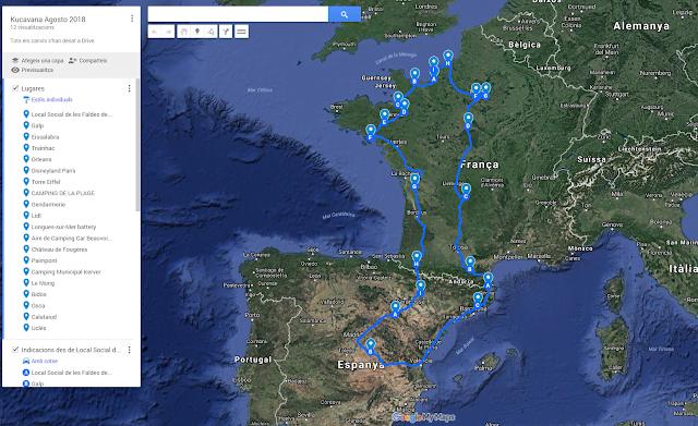 4300 km en 29 jours: Centre de la France, Disneyland, Normandie, Bretagne et Uclés