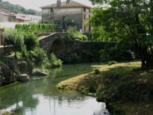 Il fiume Brugent di Sant Feliu de Pallerols