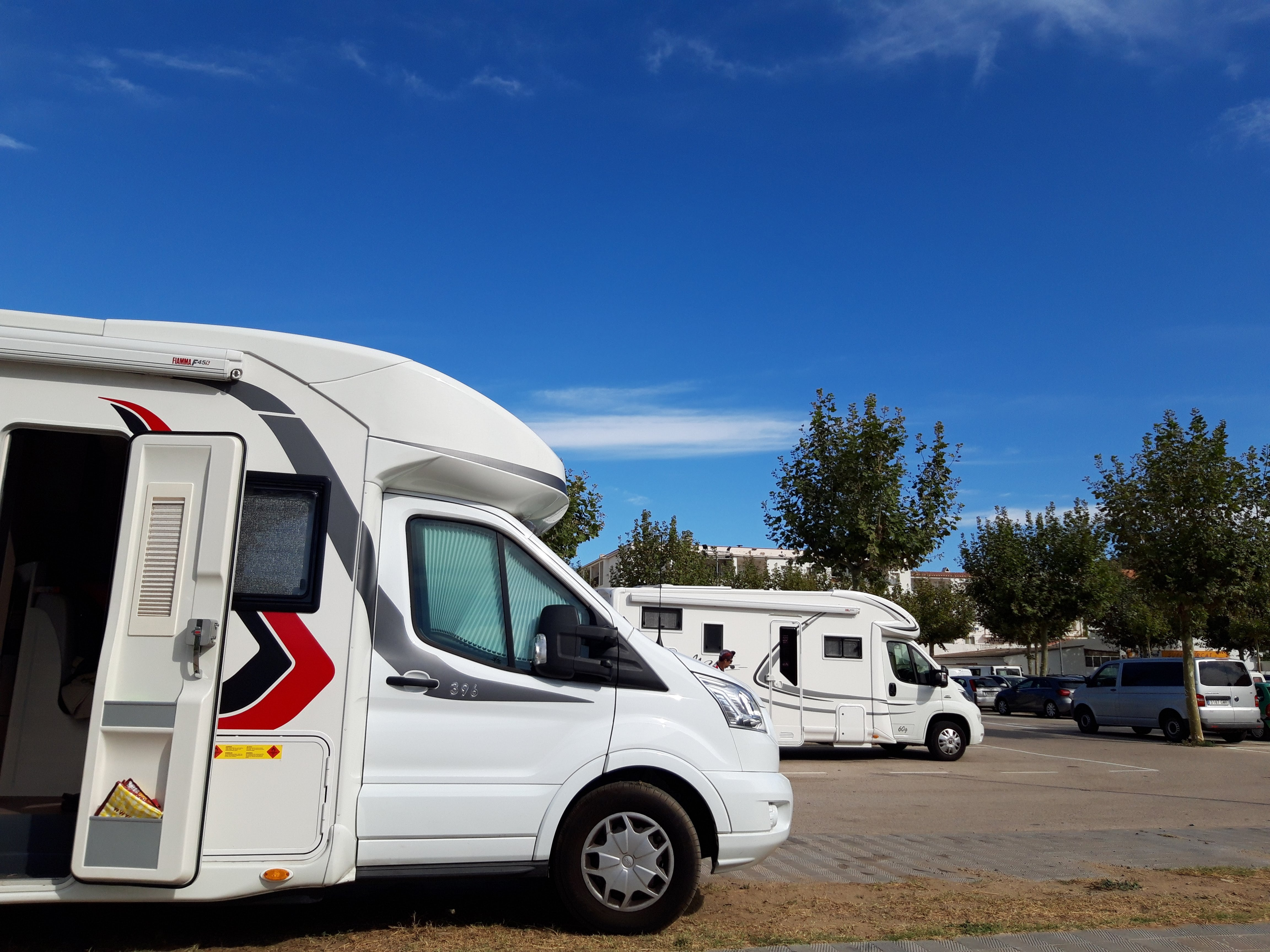 Port de la Selva aparcamento autocaravanas