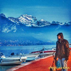 Annecy en francia, el lago de Annecy