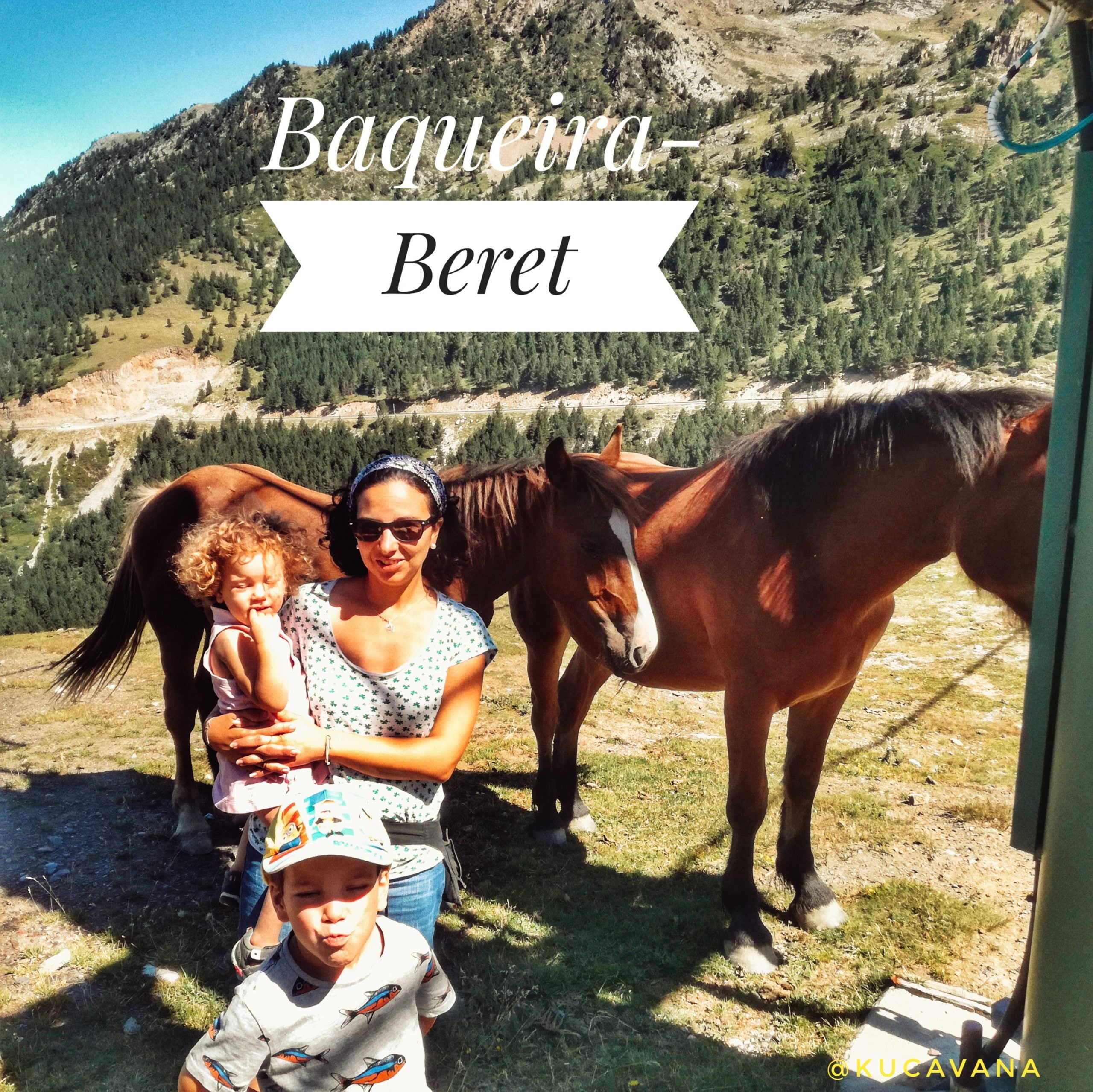 Pirineos con niños: Baqueira- Beret entre caballos y vacas