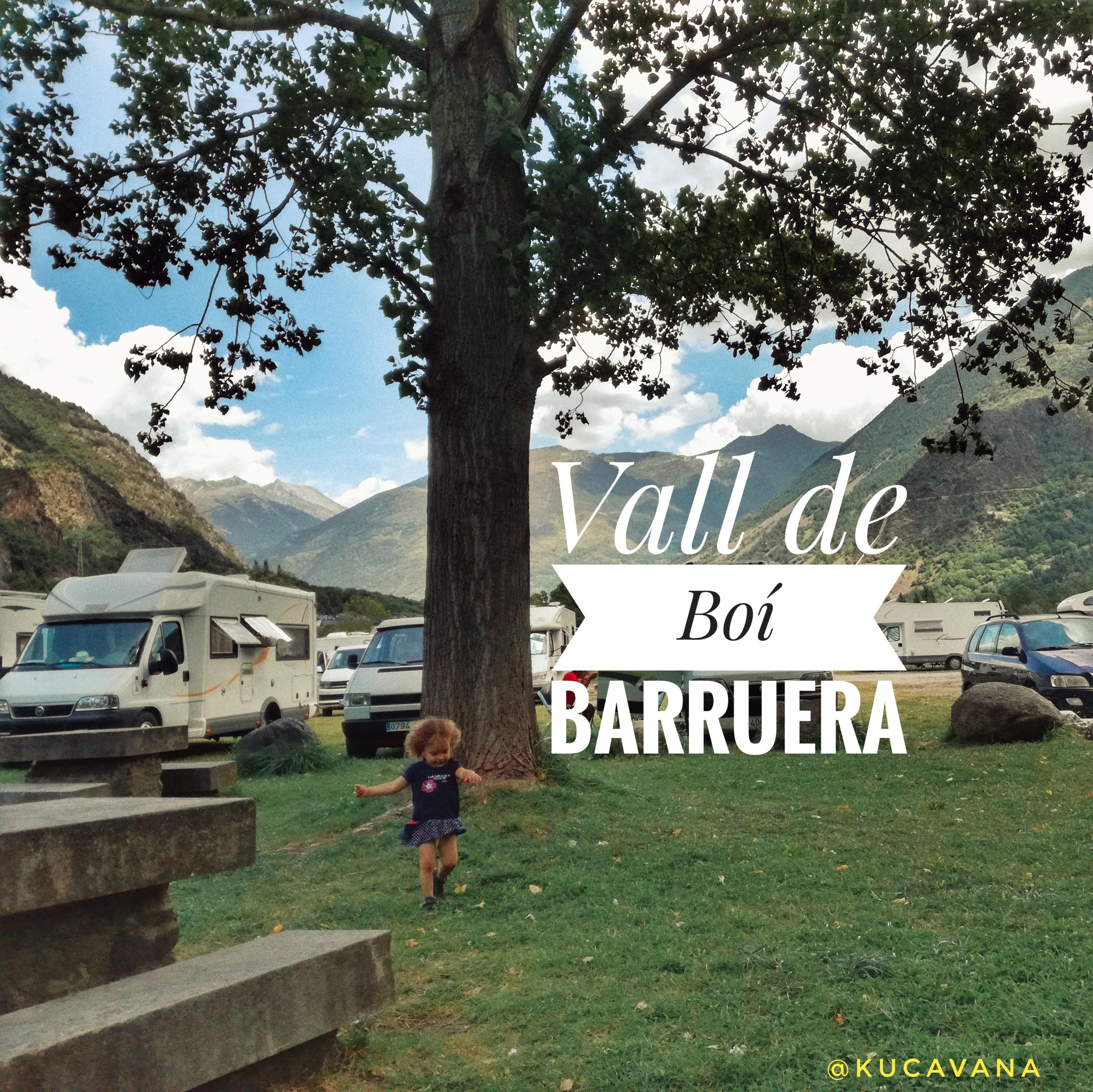 Route à travers la Vall de Boí et le grand camping-car de Barruera