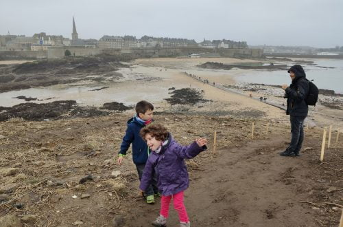 Saint Malo desde la isla de Ré