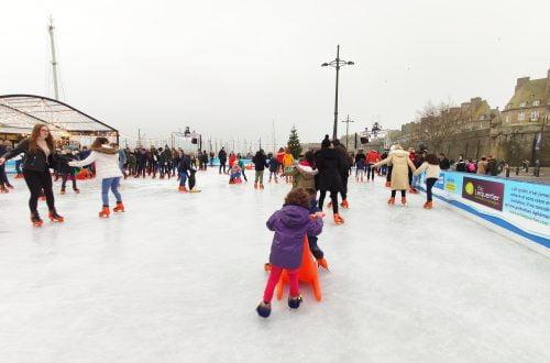 Saint-Malo, pista de hielo de navidad