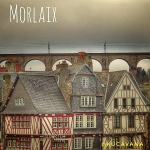 Morlaix, typical village in French Brittany with a very instagramer viaduct
