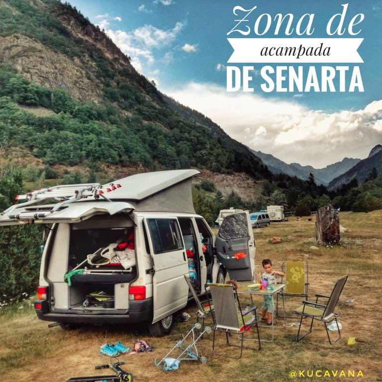 Senarta in a motorhome. Benasque in motorhome