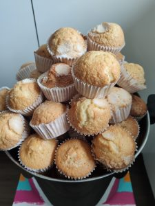 The best homemade muffins, the ones in town, my Aunt Maria's!