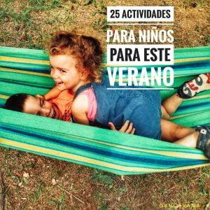 25 actividades para niños este verano  ☀️ ▷ 【2020】