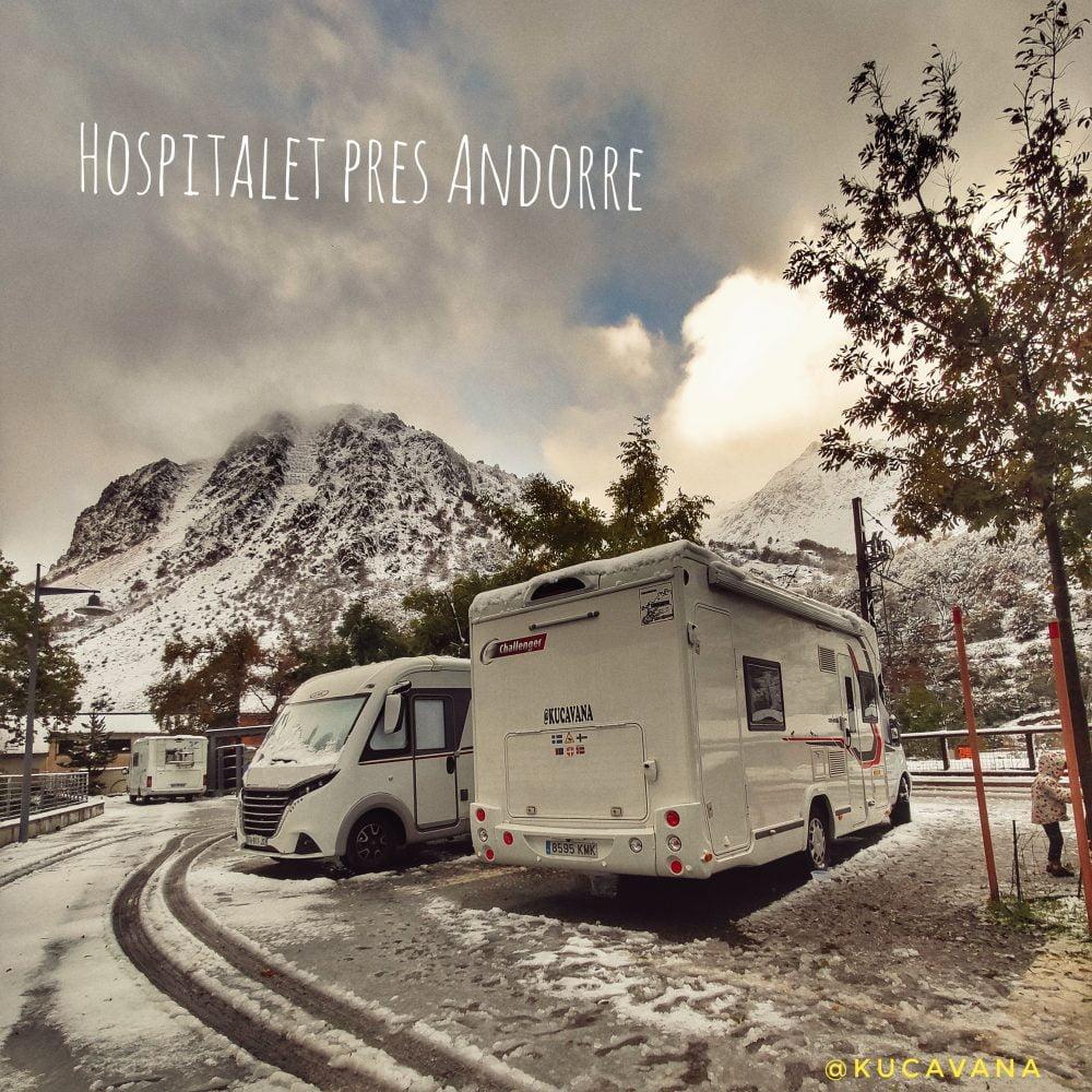 Hospitalet pres Andorre area autocaravanas