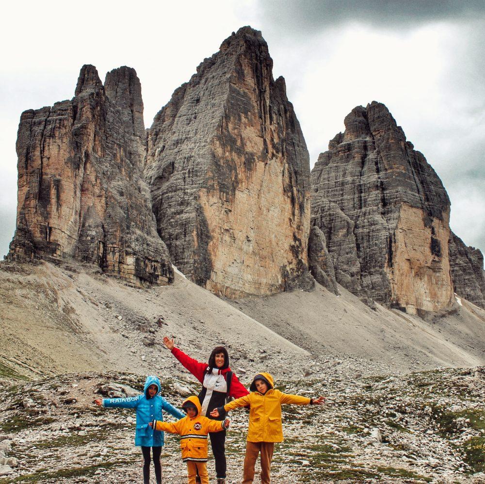 Las tres cimas, Tre Cime di Lavaredo, Dolomitas en autocaravana