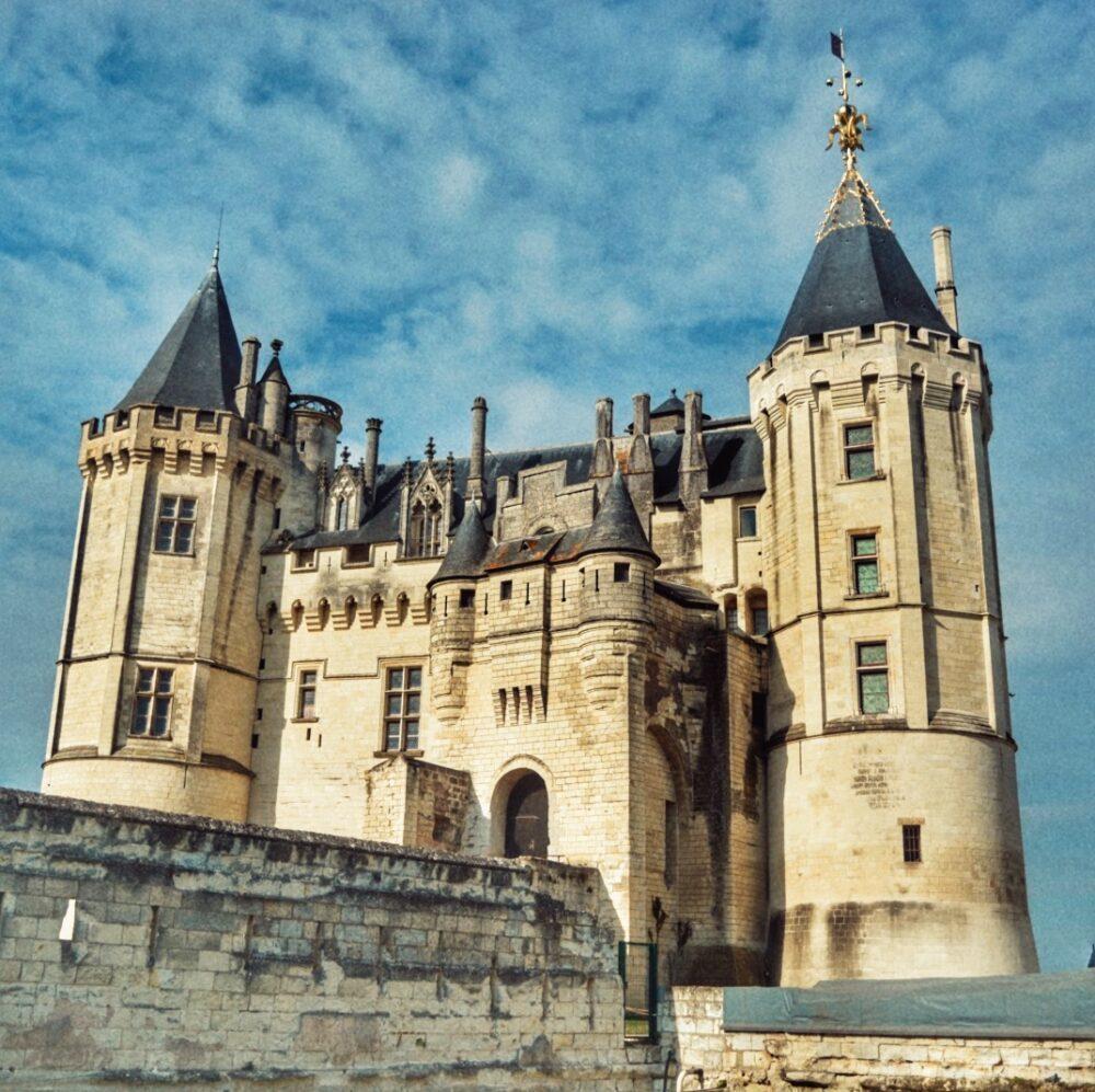 Castillo de Saumure en los Castillos del Loira Francia