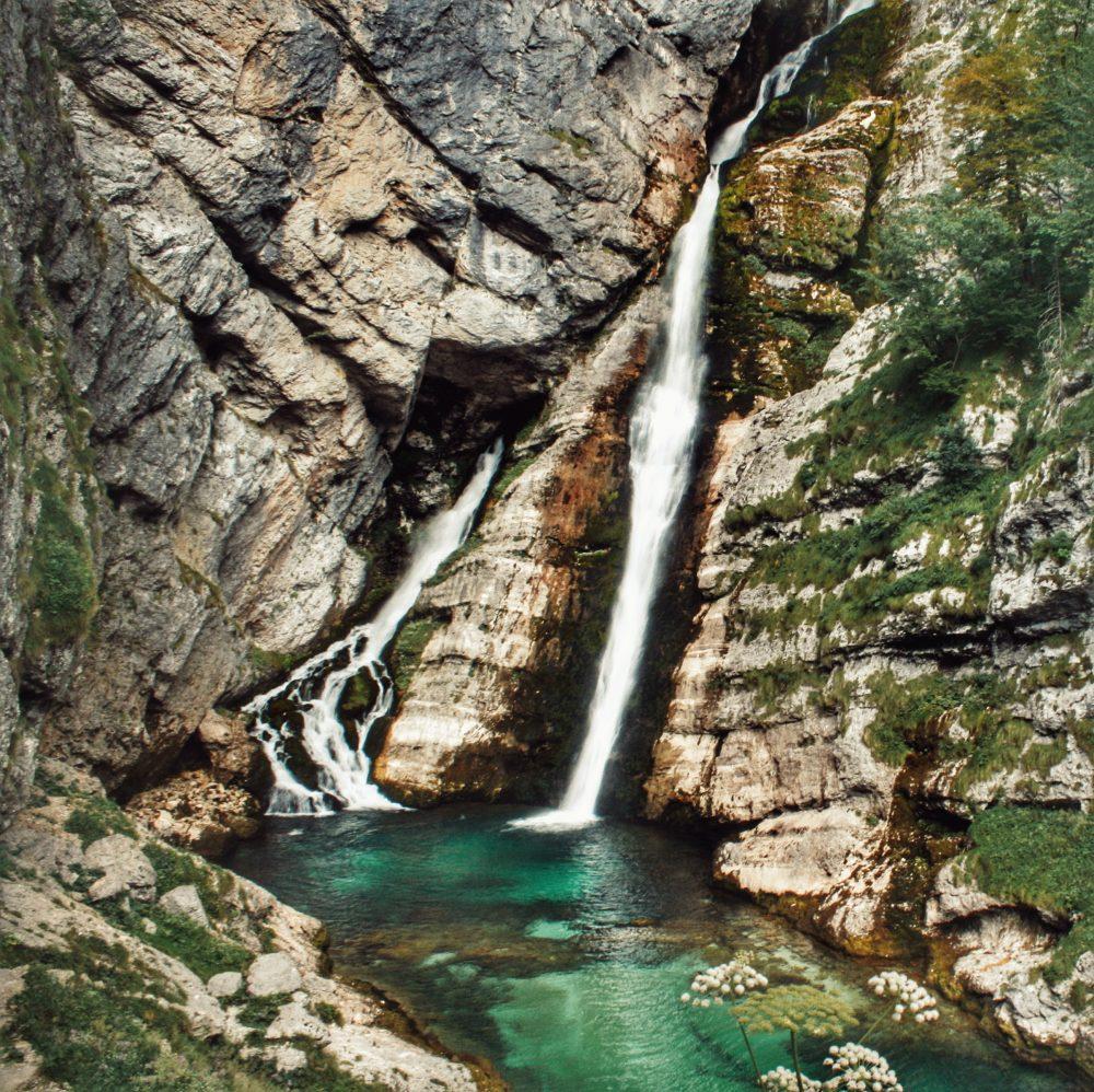 Bohinj lago (cascada Savica). Viaje a Eslovenia en autocaravana