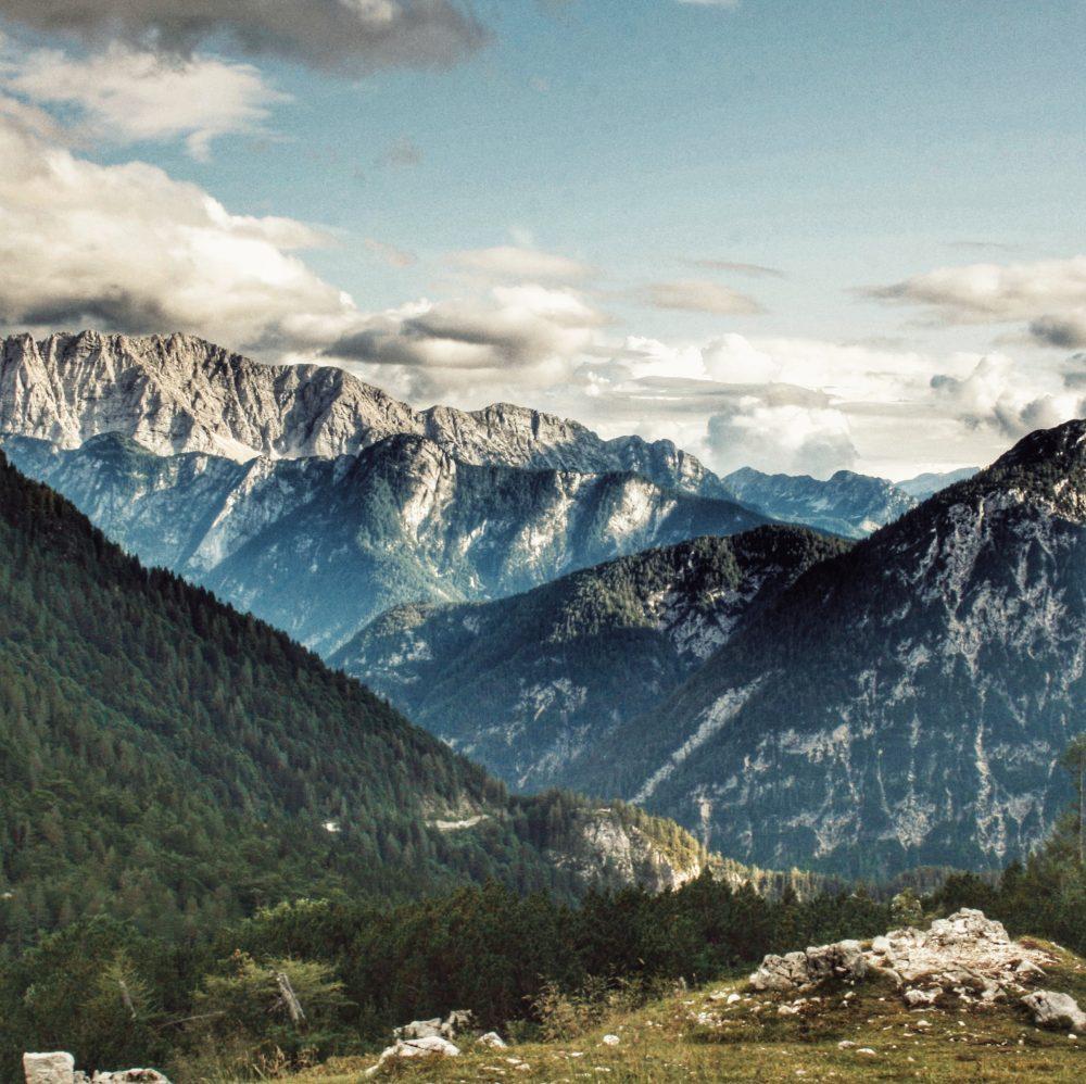 Paso Vrsic. Eslovenia en autocaravana