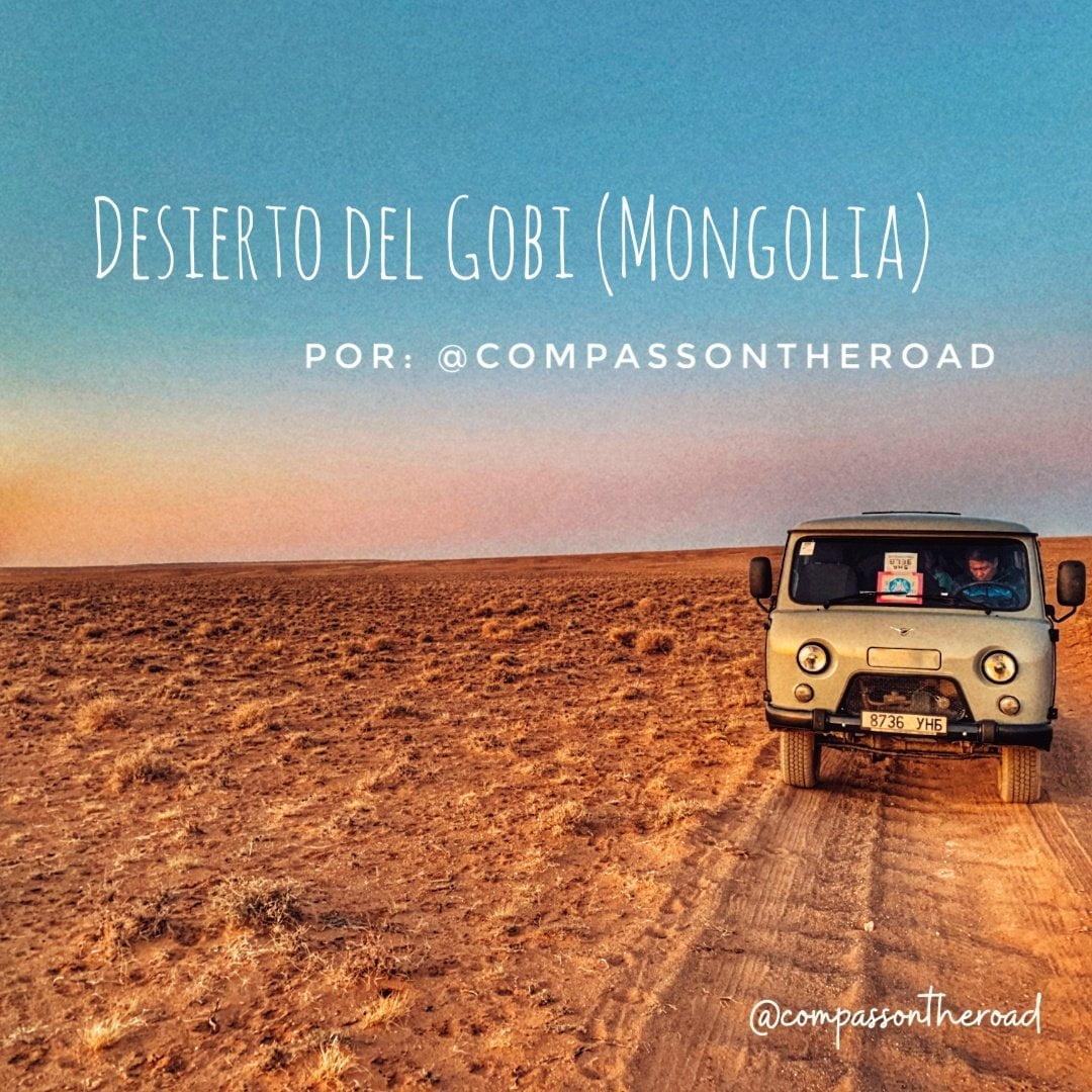 7 jours de randonnée à travers le désert de Gobi en Mongolie en van par @compassontheroad