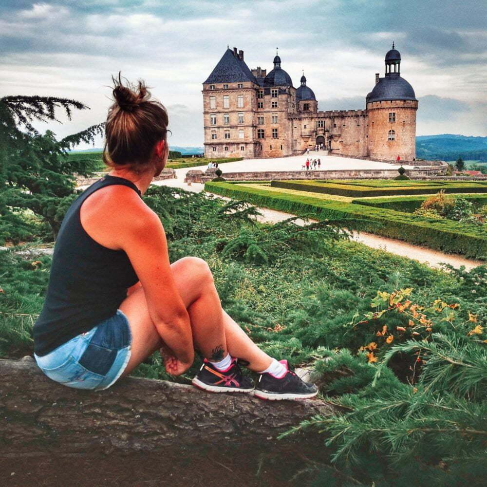 Dordogne Sehenswürdigkeiten und Perigord von Camper van Hautefort Castle