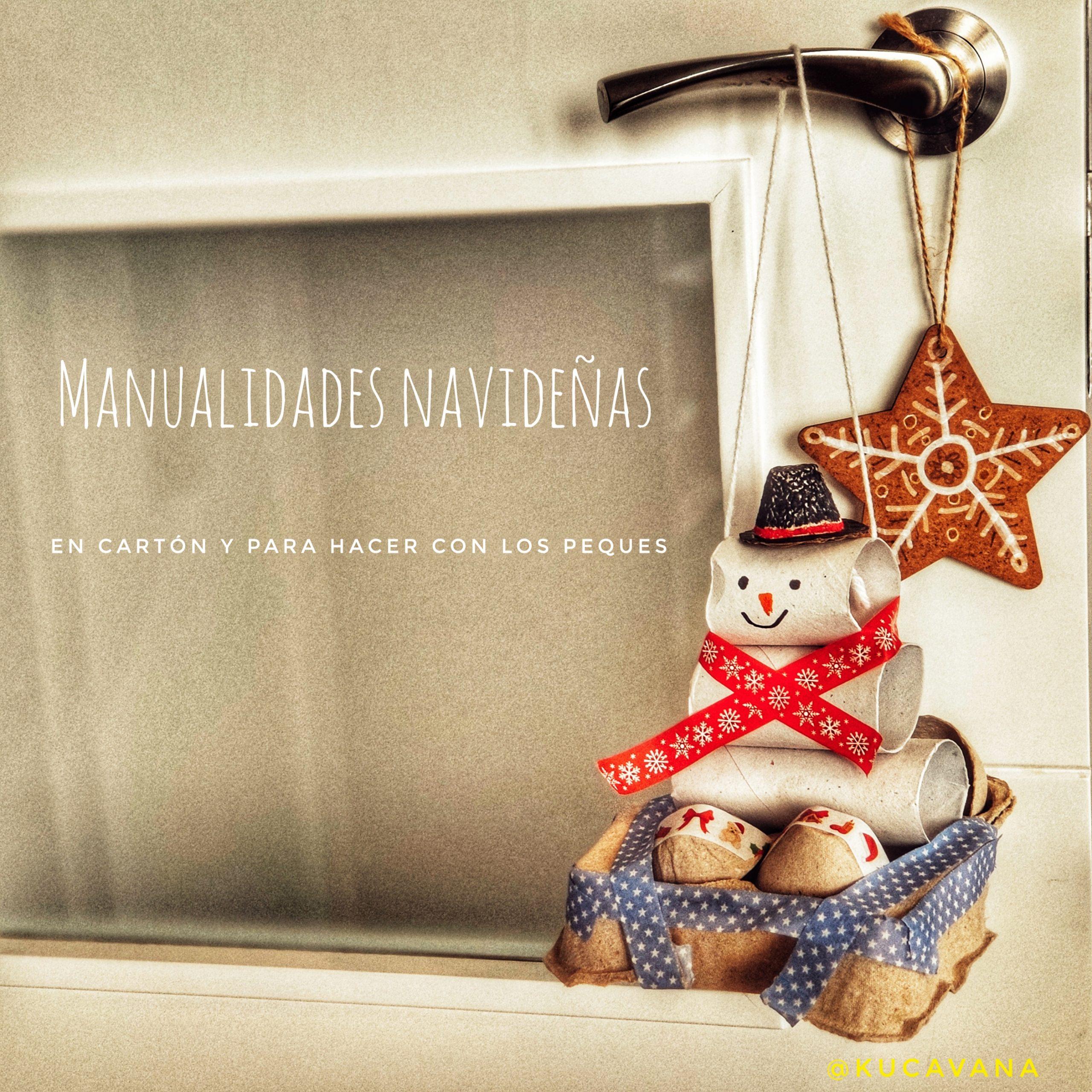 3 Manualidades navideñas fáciles para niños en cartón