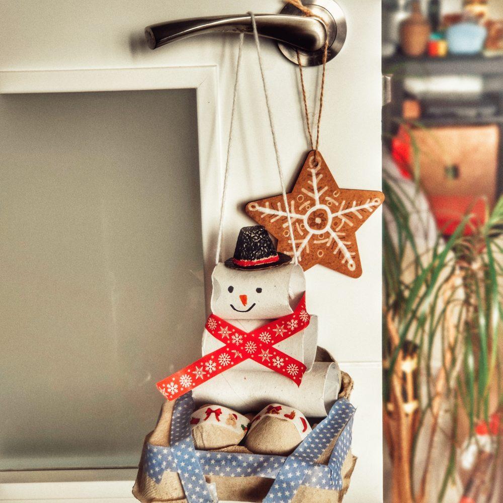Manualidd navidad con rollos de papel
