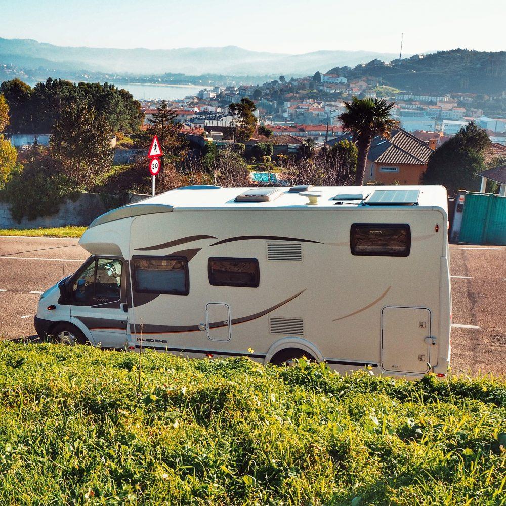 Galicia autocaravana: MIRADOR VIRXE DA ROCA en la ruta de Galicia en autocaravana a la altura de Baiona