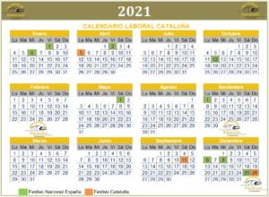 Calendario laboral de Cataluña 2021 para planificar nuestras próximas vacaciones Post-Covid