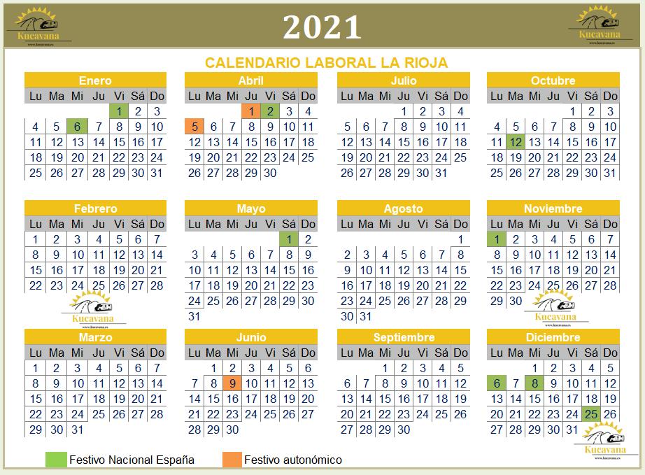 Calendario laboral la Rioja 2021