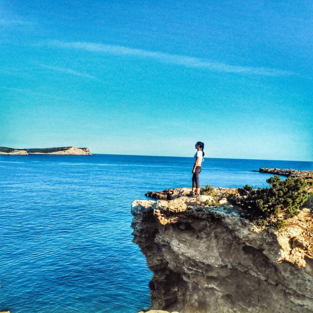 Ruta de Cala Comte a Cala Escondida en nuestro viaje a Ibiza en camper
