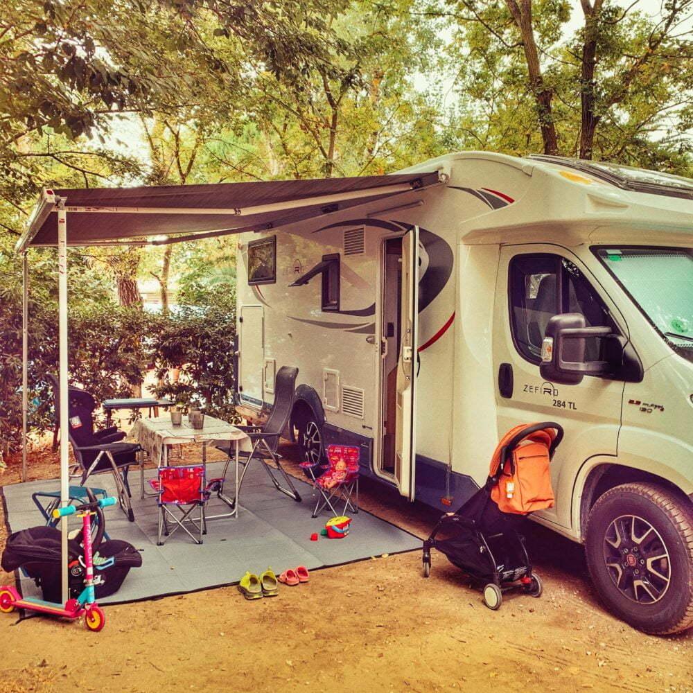 Camping en Le Barcares en autocaravana
