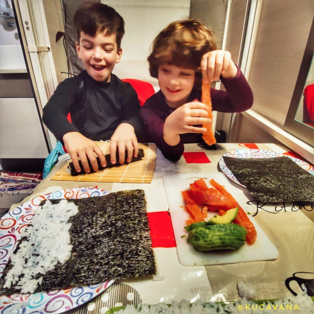 Ingredientes de como hacer sushi casero facil