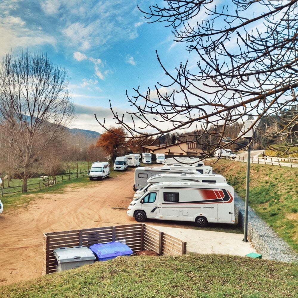 Zone numéro 2 la plus recommandée par les camping-cars espagnols: la zone camping-car Viladrau