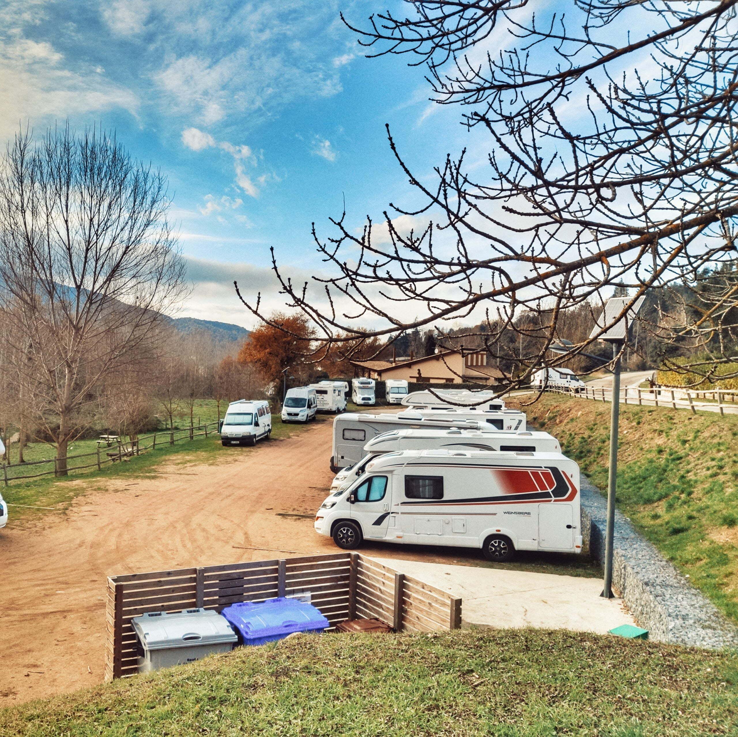 Àrea número 2 més recomanada pels autocaravanistes espanyols: àrea d'autocaravanes de Viladrau