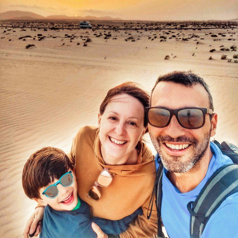 Dunes Corralejo a les Illes Canàries en autocaravana
