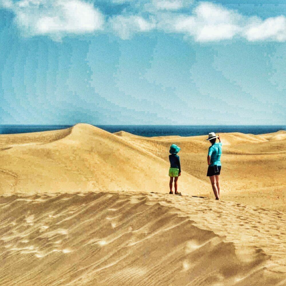 Dunas Maspalomas a les Illes Canàries en autocaravana