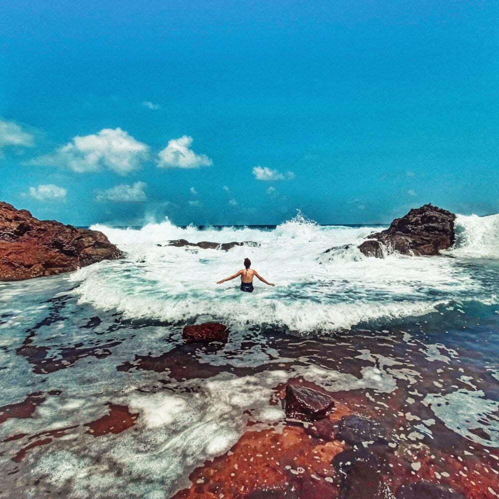 Piscina Natural Illes Canàries en autocaravana