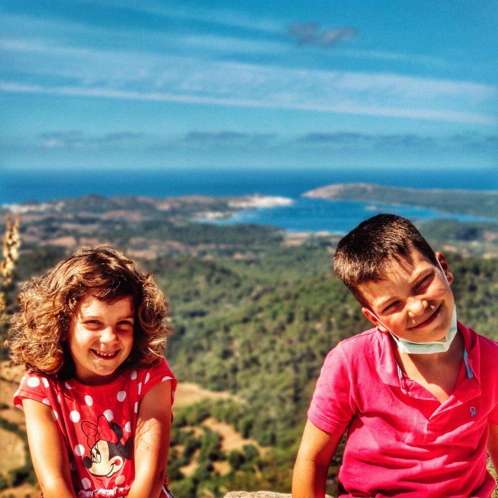Vistas desde Monte Toro, el pico más alto de Menorca
