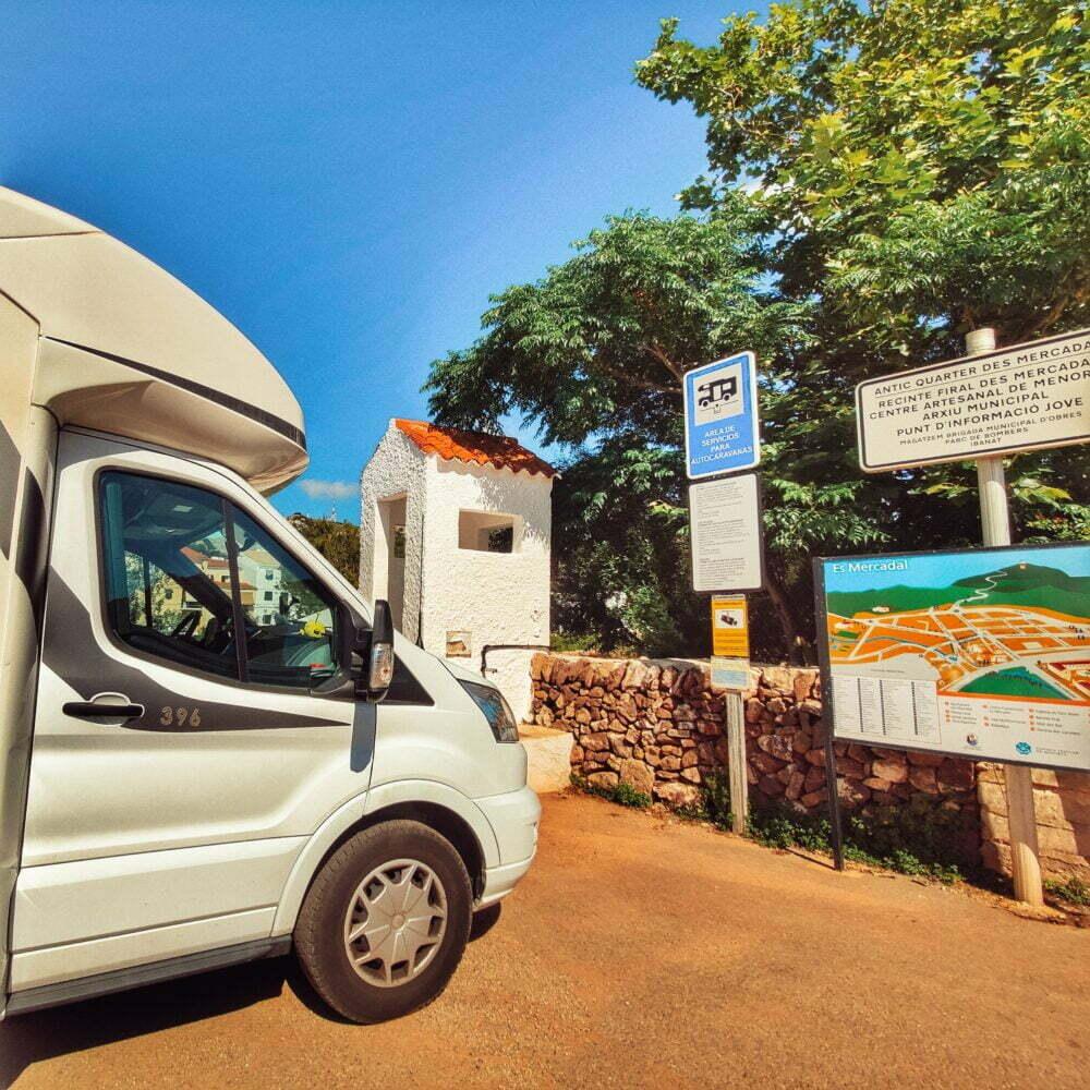 Área de autocaravanas de Es Mercadal, la única área de Menorca