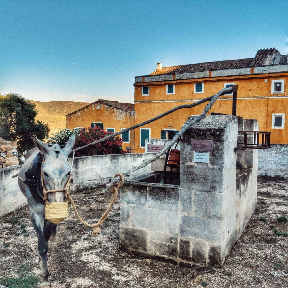 El Fumat sacando agua, en Benissuès