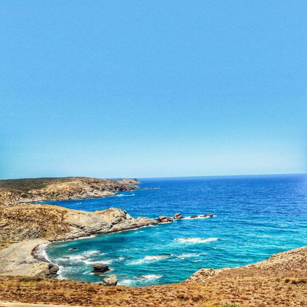 Vistas des de la fortalez de la Mola en Menorca
