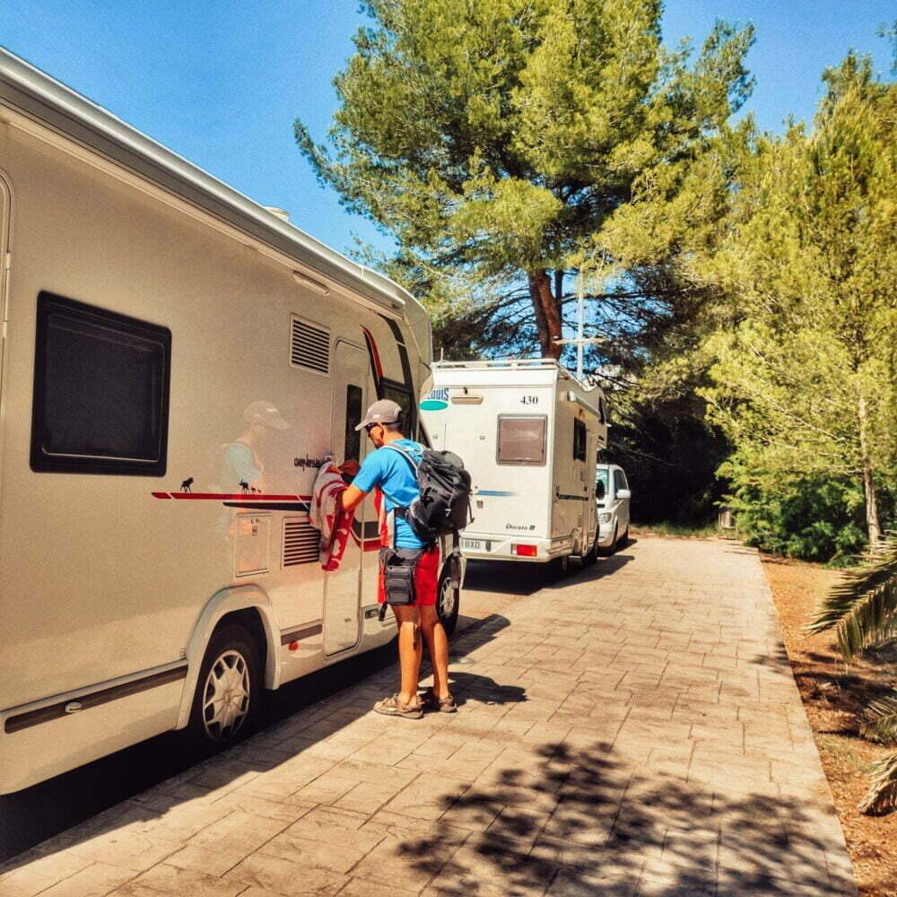 Cala Galdana en camping-car