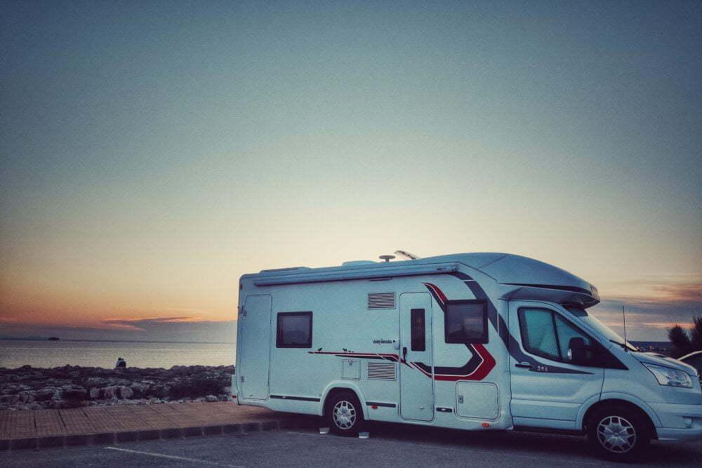 Puesta de sol desde Ciutadella de Menorca en autocaravana