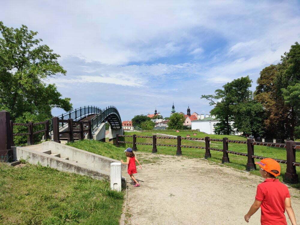 Uno de los puentes de los enamorados de Zamosc