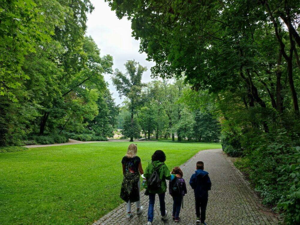 Parque Real Lazienki en Varsovia en nuestro viaje por Varsovia en autocaravana