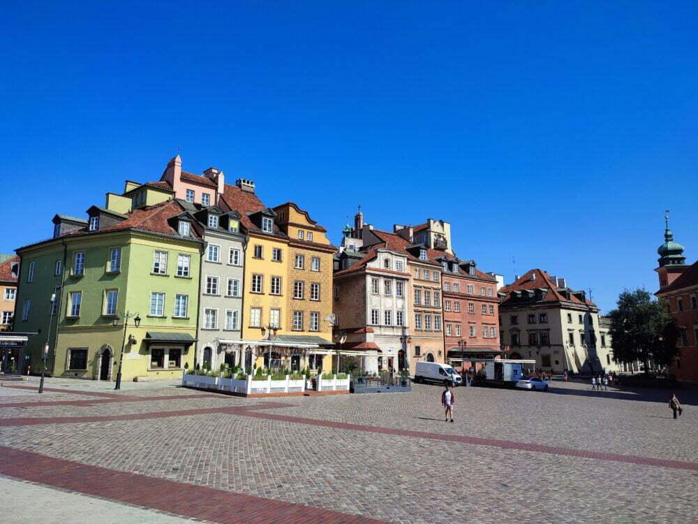 Ciudad vieja de Varsovia en autocaravana