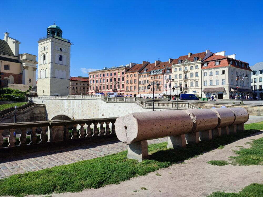 Antigua columna de Segismundo abatida en el Levantamiento de Varsovia