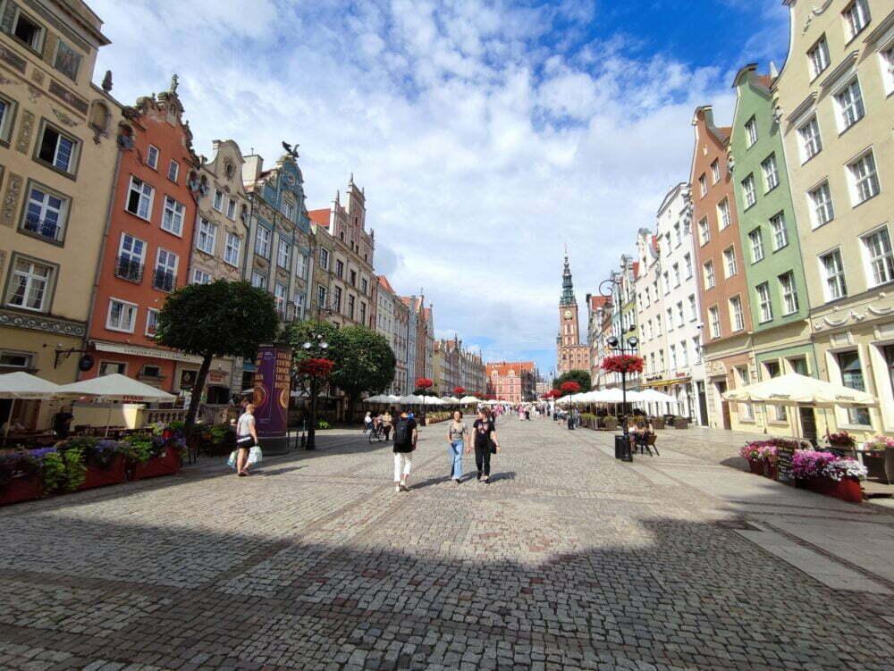 Le long marché de Gdansk
