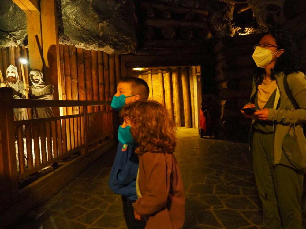 Visita a la mina de sal en Polonia de Wieliczka con niños