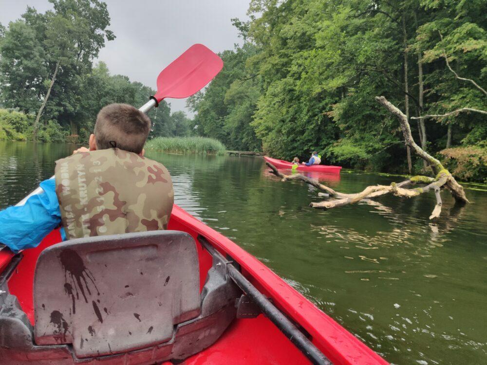 Kayaking in Poland on the Krutynia